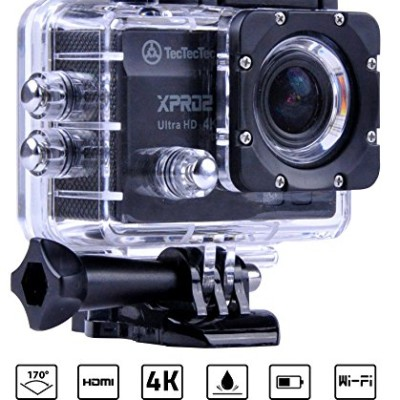 [Nouveau] TecTecTec XPRO2 Camera Sport 4K Ultra HD Wifi - Camera etanche 16 Mp - Bleue @ Amazon.fr